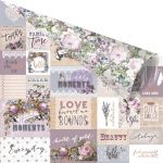 "Prima Marketing Inc - Lavender - Rose Gold Foiled D/S C/S 12""X12"" - Communication Through Love"