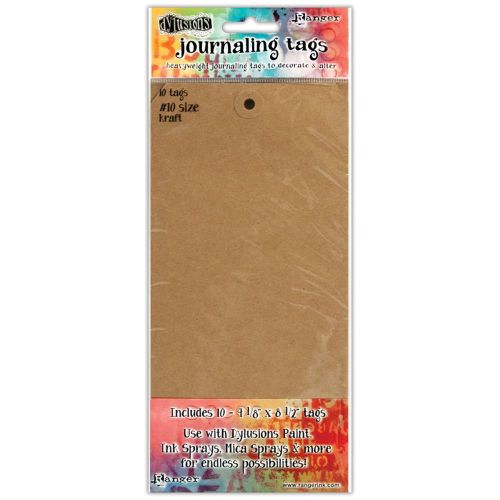 Ranger - Dylusions - By Dyan Reaveley - Journal Tags 10/Pkg - Kraft #10