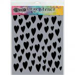 "Ranger - Dylusions - By Dyan Reaveley - Dylusions Stencils 9""X12"" - Love Hearts"