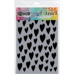 "Ranger - Dylusions - By Dyan Reaveley - Dylusions Stencils 5""X8"" - Love Hearts Small"