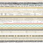 "Teresa Collins Designs - Family Stories - 12x12"" Paper - Multi Stripe"