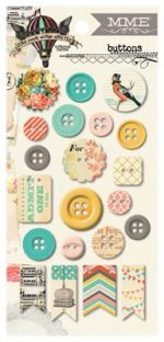 My Minds Eye - Find Your Wings and Fly - Sky's the Limit Chipboard Buttons