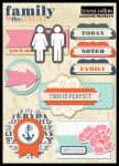 Teresa Collins Designs - Family Stories - Layered Stickers