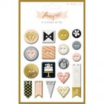 My Minds Eye - Fancy That - Tux Gold Foiled Chipboard Buttons