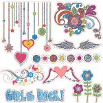 Fancy Pants Designs - Road Show Collection - 12 x 12 Glitter Cuts Transparencies