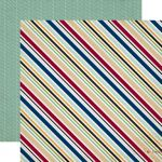 "Echo Park Paper Company - Getaway Collection - 12x12"" Paper - Travel Stripe"