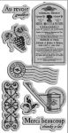 Graphic 45 - French Country Collection - Cling Rubber Stamps - French Country 2