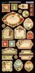 Graphic 45 - The 12 Days of Christmas - Chipboard 2