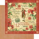 Graphic 45 - The 12 Days of Christmas - Paper - Drummers Drumming