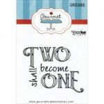 "Gourmet Rubber Stamps - Cling Stamps 2.75""X4.75"" - Two Shall Become One"