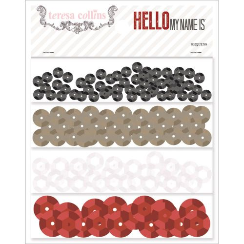 Teresa Collins Designs - Hello My Name Is - Sequins
