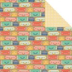 "My Minds Eye - Hello World - All Aboard ""Suitcases"" Double-Sided Cardstock 12""X12"""