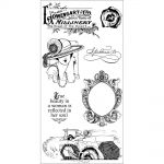 Graphic 45 - A Ladies' Diary Collection - Cling Rubber Stamp Set # 3