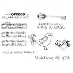 "Unity Stamps - Artista's Cling Rubber Stamps 5.5""X7.25"" - Music Of My Heart"