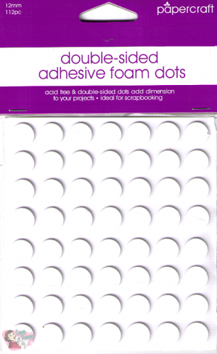 Papercraft - Double-Sided Adhesive foam dots - 12mm - 112 Pieces