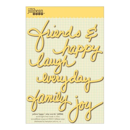 "Jillibean Soup - Wise Word Cardstock Stickers 4""X6"" - Happy Yellow"