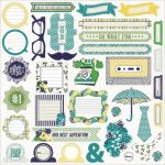 My Minds Eye - Kate & Co. - Oxford Lane 12x12 Sticker Accessories