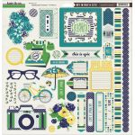 My Minds Eye - Kate & Co. - Oxford Lane 12x12 Chipboard Accessories