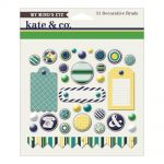 My Minds Eye - Kate & Co. - Oxford Lane Decorative Brads