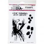 "Ranger - Dina Wakley Media - Cling Stamps 6""X9"" - Splatter Girl"
