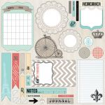 Teresa Collins Designs - Memories - 12x12 Die Cut Sheet