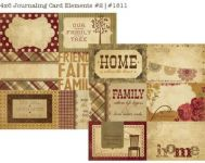 Simple Stories - Generations - 4x6 Vertical Journaling Card Elemements #2