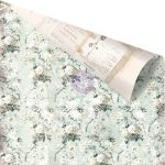 "Prima Marketing Inc - Vintage Floral - Gold Foiled D/S C/S 12""X12"" - Misty Fields"