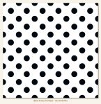 My Mind's Eye - Necessities - Black & Gray Dot Paper