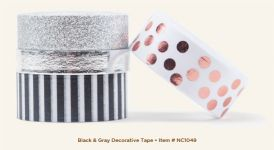 My Mind's Eye - Necessities - Black & Gray Decorative Tape