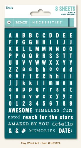 My Mind's Eye - Necessities - Teals Tiny Word/Alphas