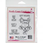 "North Coast Creations - Merry And Bright - Cling Rubber Stamps 5""X6.75"""