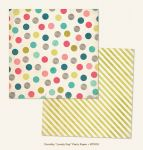 My Mind's Eye - Now and Then - By Jen Allyson - Lovely Day Party 12 x 12 Double Sided Patterned Paper