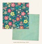 My Mind's Eye - Now and Then - By Jen Allyson - Pretty Blossom 12 x 12 Double Sided Patterned Paper