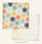 My Mind's Eye - Now and Then - By Jen Allyson - Smile Regard 12 x 12 Double Sided Patterned Paper