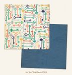 My Mind's Eye - Now and Then - By Jen Allyson - Boys Smart 12 x 12 Double Sided Patterned Paper