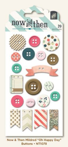 My Mind's Eye - Now and Then - By Jen Allyson - Oh Happy Day Decorative Buttons