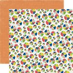 "Echo Park Paper Company - Paper and Glue - 12x12"" Paper - Pie Charts"