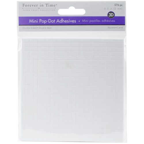 "MultiCraft 3D Pop Dots Dual-Adhesive Micro Foam Adhesives - White Square, .2"" 576/Pkg"