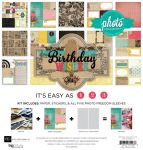 Echo Park Paper Company - Photo Freedom - Birthday Wishes Collection - 12 x 12 Collection Kit