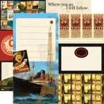 Echo Park Paper Company - Photo Freedom - Graphic 45 - Transatlantique Collection - 12 x 12 Paper - All Aboard