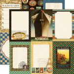 Echo Park Paper Company - Photo Freedom - Graphic 45 - Transatlantique Collection - 12 x 12 Paper - Suitcase