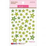 "Bella Blvd - Puffy Stars Stickers 4.25""X6"" - Pickle Juice Mix"