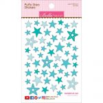 "Bella Blvd - Puffy Stars Stickers 4.25""X6"" - Ice Mix"