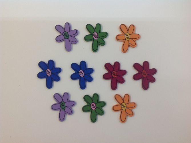 Boyle - Painted Wood Shapes - Flowers