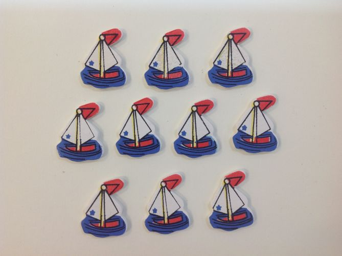 Boyle - Painted Wood Shapes - Sail Boat