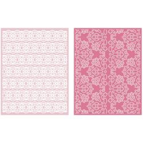 Lifestyle Crafts - Quickutz - Goosebumpz A2 Embossing Folders 2/Pkg - Lace