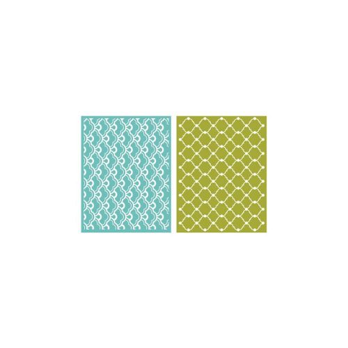 Lifestyle Crafts - Quickutz - Goosebumpz A2 Embossing Folders 2/Pkg - Whimsy