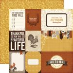 "Echo Park Paper Company - Reflections Fall - 12x12"" Paper - Count Your Blessings"