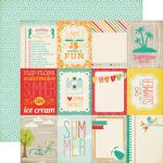 "Echo Park Paper Company - Summer Bliss Collection - 12x12"" Paper - Say Hello"