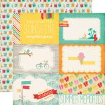 "Echo Park Paper Company - Summer Bliss Collection - 12x12"" Paper - Summer Memories"